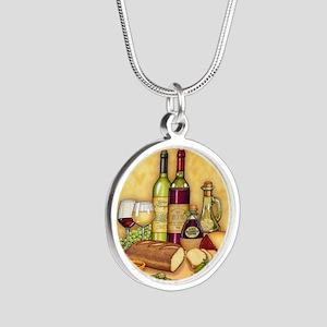 Wine Best Seller Silver Round Necklace