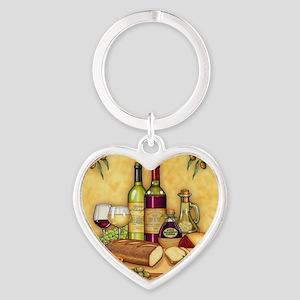 Wine Best Seller Heart Keychain