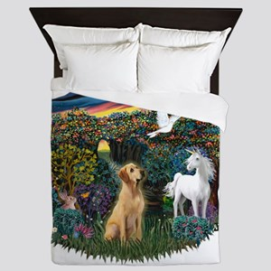 Woodland Magic - Yellow Lab 8 Queen Duvet