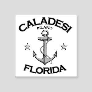 "CALADESI ISLAND FLORIDA cop Square Sticker 3"" x 3"""