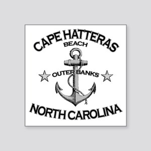 "CAPE HATTERAS NORTH CAROLIN Square Sticker 3"" x 3"""