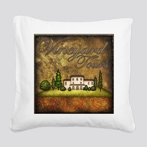 Wine Best Seller Square Canvas Pillow