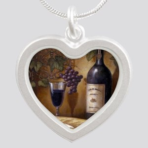 Wine Best Seller Silver Heart Necklace
