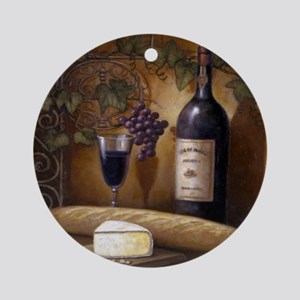 Wine Best Seller Round Ornament