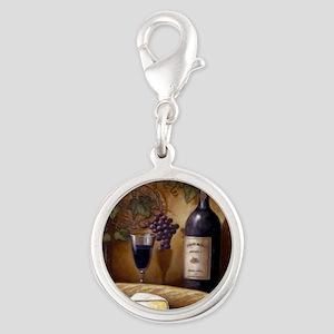 Wine Best Seller Silver Round Charm