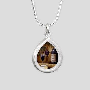 Wine Best Seller Silver Teardrop Necklace