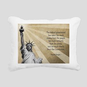 Ronald Reagan Quote Rectangular Canvas Pillow