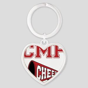 CMP Cheer, megephone Heart Keychain
