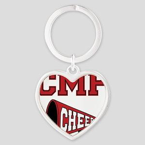 CMP Cheer, megephone2 Heart Keychain