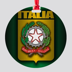 Italian Steel (cafe iPad) Round Ornament