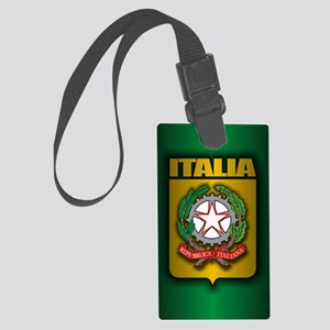 Italian Steel (cafe iPad) Large Luggage Tag