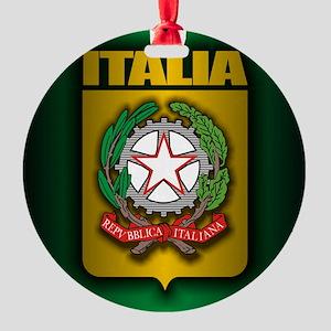 Italian Steel (cafe iPad2) Round Ornament