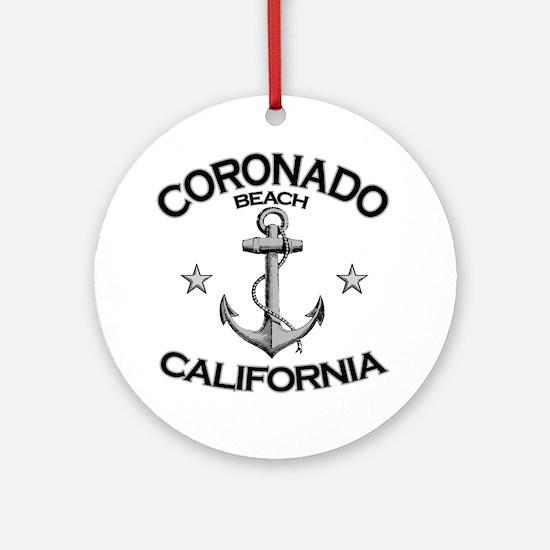 CORONADO BEACH CALIFORNIA copy Round Ornament