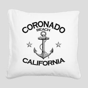 CORONADO BEACH CALIFORNIA cop Square Canvas Pillow