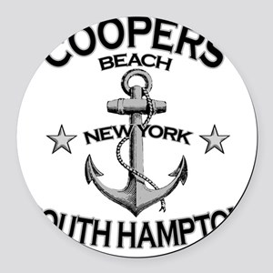 COOPERS BEACH SOUTH HAMPTON NY co Round Car Magnet