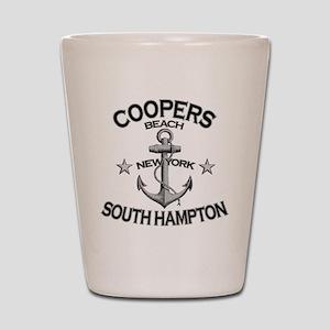 COOPERS BEACH SOUTH HAMPTON NY copy Shot Glass