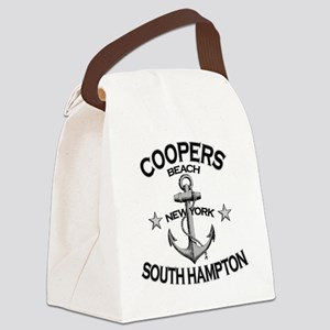 COOPERS BEACH SOUTH HAMPTON NY co Canvas Lunch Bag