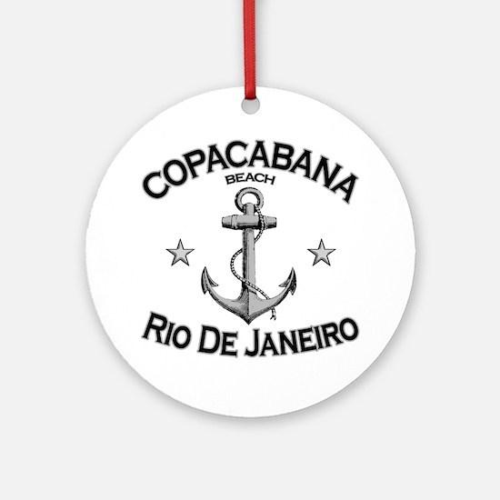 Copacabana beach rio de janeiro bra Round Ornament