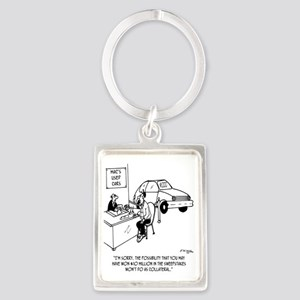 4414_loan_cartoon_LS Portrait Keychain