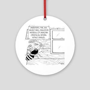 4491_termite_cartoon_JAC Round Ornament
