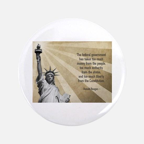 """Ronald Reagan Quote 3.5"""" Button"""