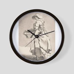 Flowers - Paul Sandby - c1759 Wall Clock