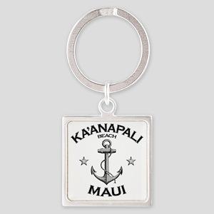 KAANAPALI BEACH MAUI copy Square Keychain