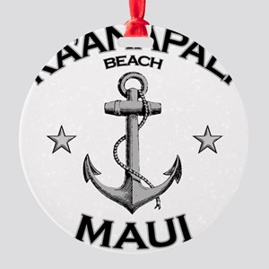 KAANAPALI BEACH MAUI copy Round Ornament