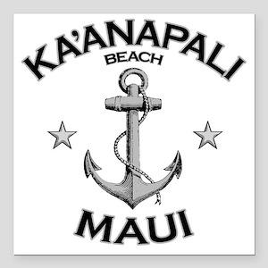 """KAANAPALI BEACH MAUI cop Square Car Magnet 3"""" x 3"""""""