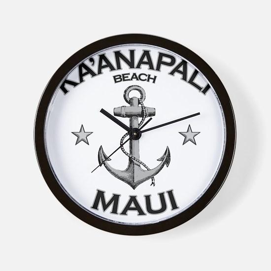 KAANAPALI BEACH MAUI copy Wall Clock