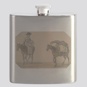 Girl with Packhorse - Paul Sandby - c1800 Flask