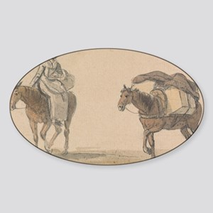Girl with Packhorse - Paul Sandby - c1800 Sticker