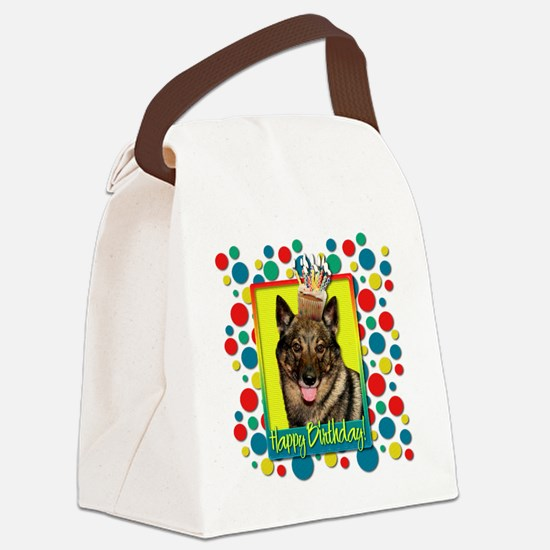BirthdayCupcakeVallhundCP Canvas Lunch Bag