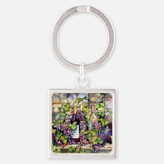 Best Seller Grape Square Keychain