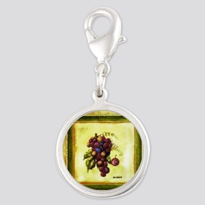 Best Seller Grape Silver Round Charm