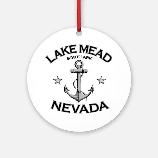 LAKE MEAD STATE PARK NEVADA copy Round Ornament