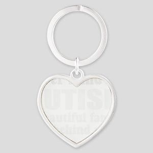 Beautiful autism family Heart Keychain