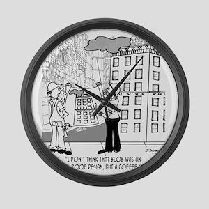 4384_blueprint_cartoon Large Wall Clock
