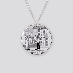4384_blueprint_cartoon Necklace Circle Charm