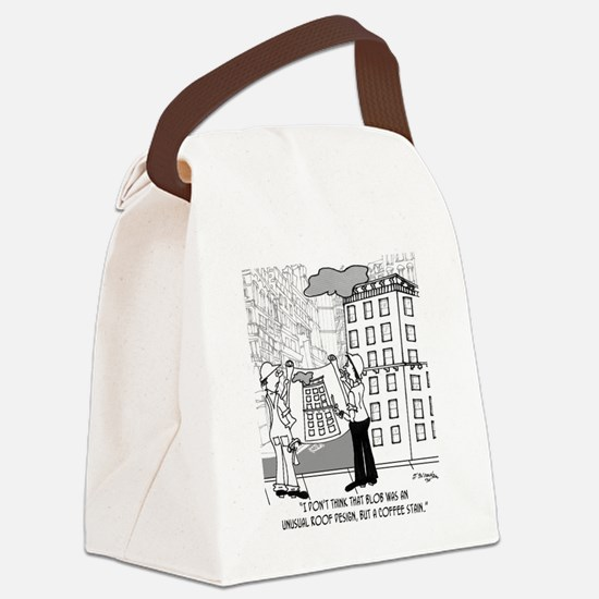 4384_blueprint_cartoon Canvas Lunch Bag