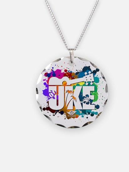 UKE Color Splash Necklace Circle Charm
