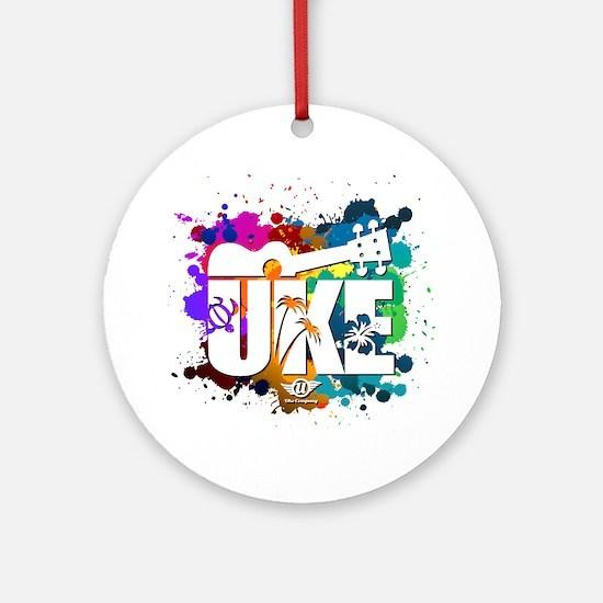 UKE Color Splash Round Ornament