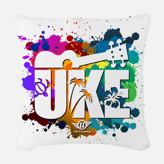 UKE Color Splash Woven Throw Pillow