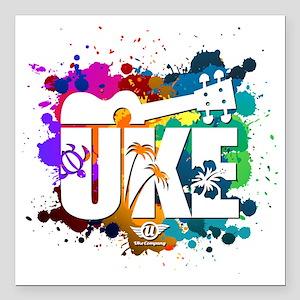 "UKE Color Splash Square Car Magnet 3"" x 3"""