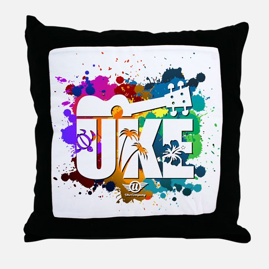 UKE Color Splash Throw Pillow