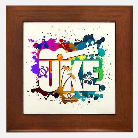 UKE Color Splash Framed Tile
