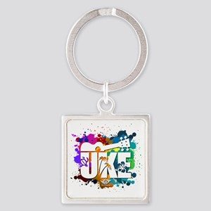 UKE Color Splash Square Keychain