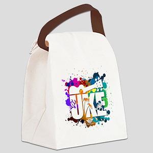 UKE Color Splash Canvas Lunch Bag