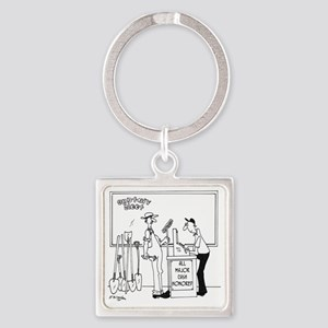 4835_money_cartoon Square Keychain