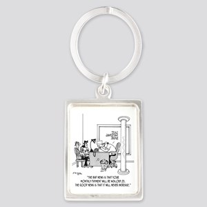 6120_mortgage_cartoon Portrait Keychain